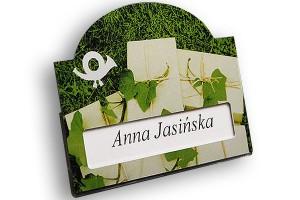 Identyfikator z okienkiem dla firmy Kurierskiej