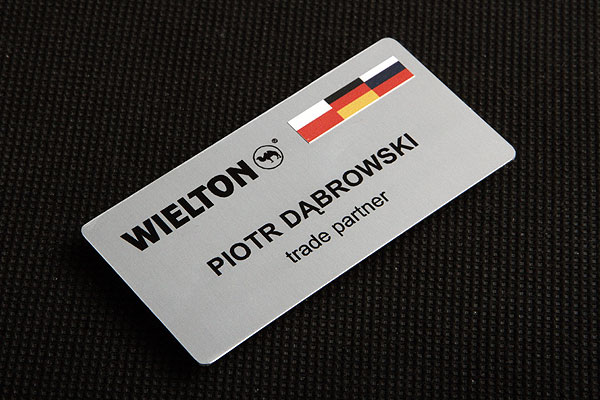 Identyfikator imienny drukowany metalowy dla partnera handlowego