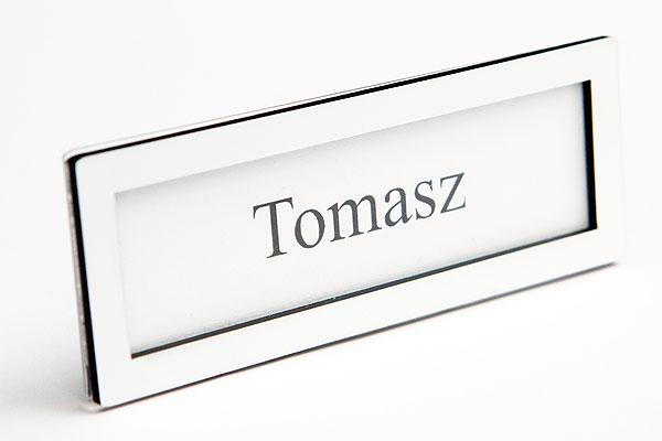 Ramka na wymienny identyfikator biała