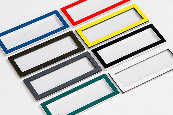 Wzornik kolorystyczny ramek na wymienne identyfikatory wizytówki