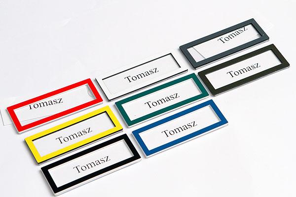 Wzornik kolorów ramek na wizytówki - identyfikatory