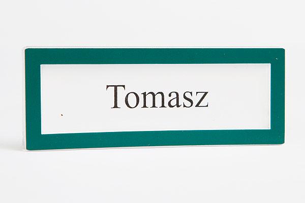 Zielona ramka identyfikator na wymienną wizytówką