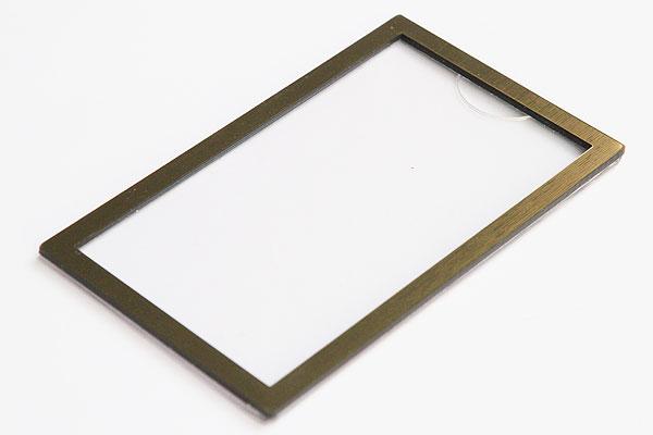 Ramka na wymienną wizytówkę złota- identyfikator rozmiar wizytówki