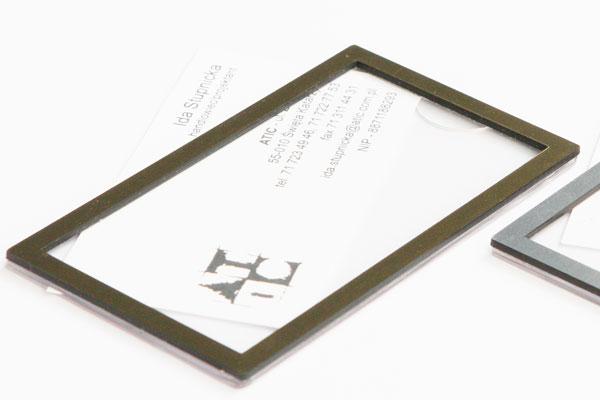 Złota ramka identyfikatora na wizytówkę