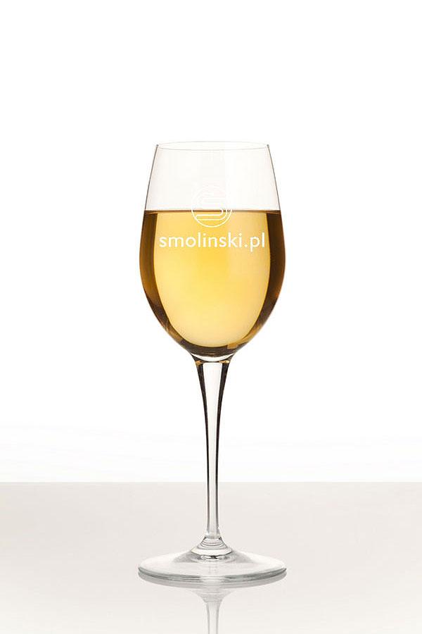 Grawerowanie szkła kieliszek do białego wina