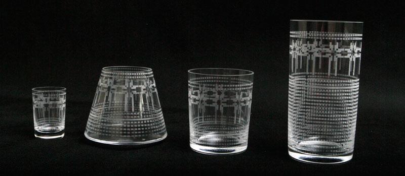 Grawerowanie szklanek na okrągło dookoła