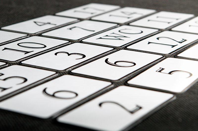 Metalowe numerki do szafek