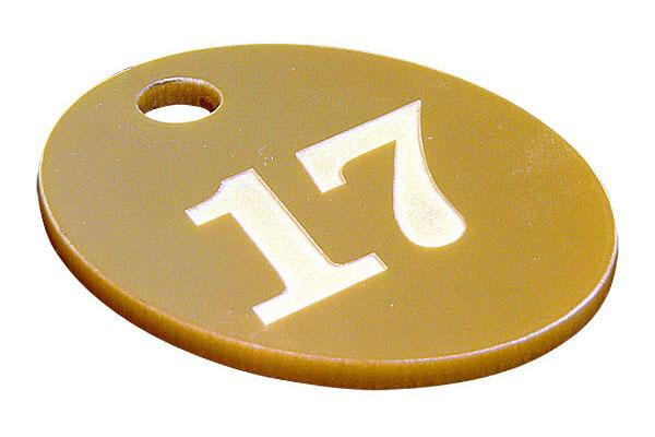 Numerek do szatni w kolorze złotym