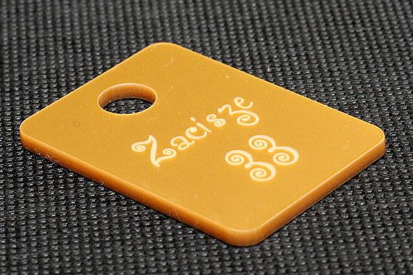 Złoty numerek do kluczy dla pensjonatu