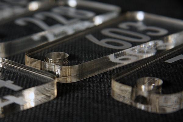 Zawieszka numerek do szatni lub kluczy o grubości 8mm