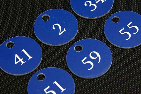 Numerek do kluczy do szkolnych szafek dla uczniów