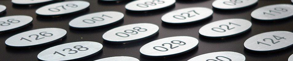 slajd numerki na drzwi