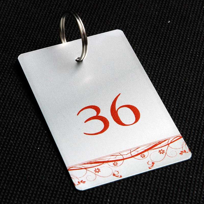 Metalowy numerek do klucza dla pensjonatu