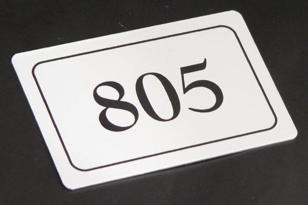 Numerek na krzesło fotel na stadionie, metalowy drukowany niescieralny