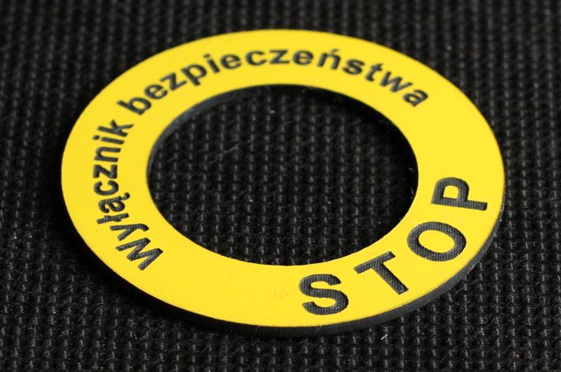Numerki opisy przycisków klawiszy stop