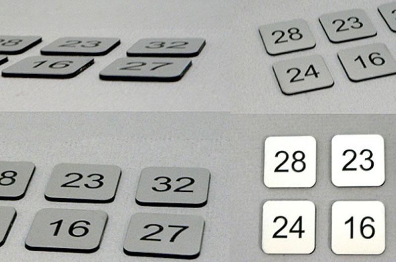 Numerki opisy przycisków klawiszy organów