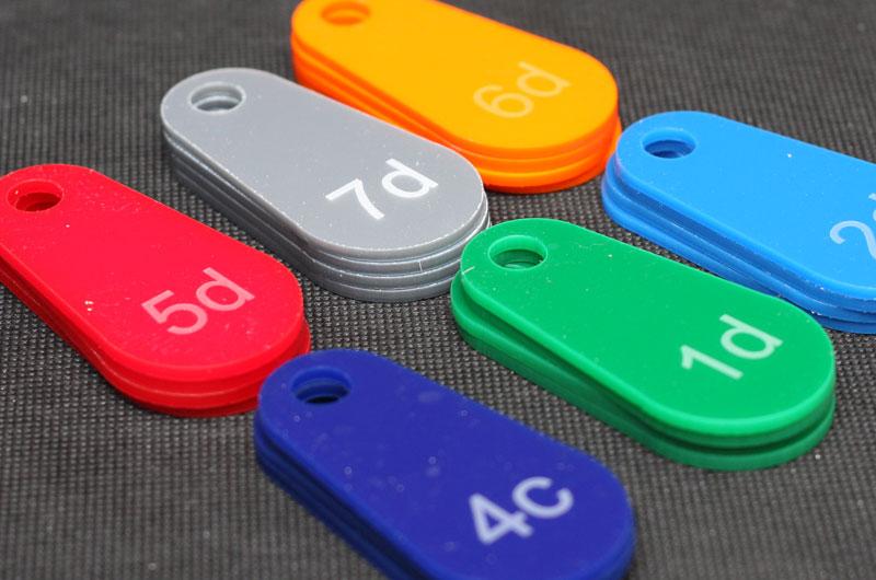 Wzory kolorów numerków do przymierzalni przebieralni