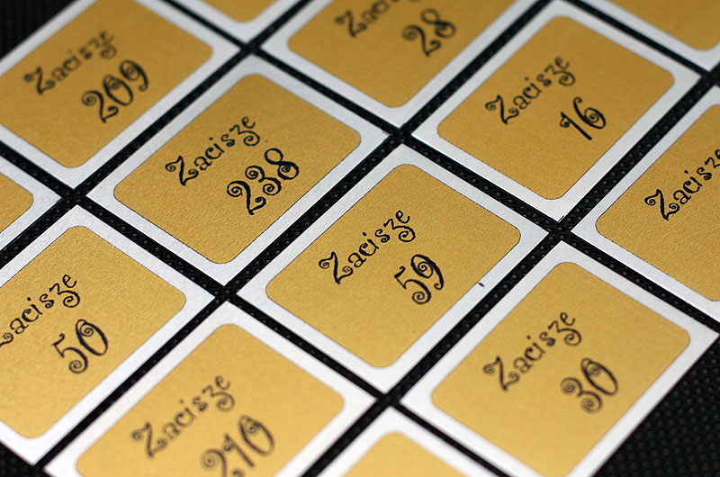 Metalowe drukowane samoprzylepne tabliczki z numerami na drzwi