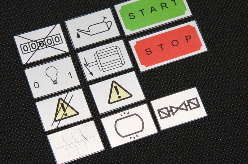 Numerki opisy przycisków funkcje urządzenia metalowe
