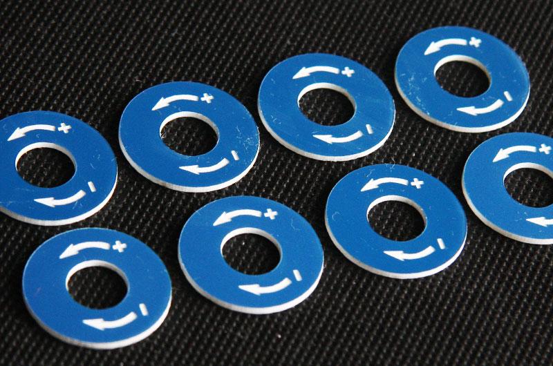 Numerki opisy przycisków kierunek plastikowe