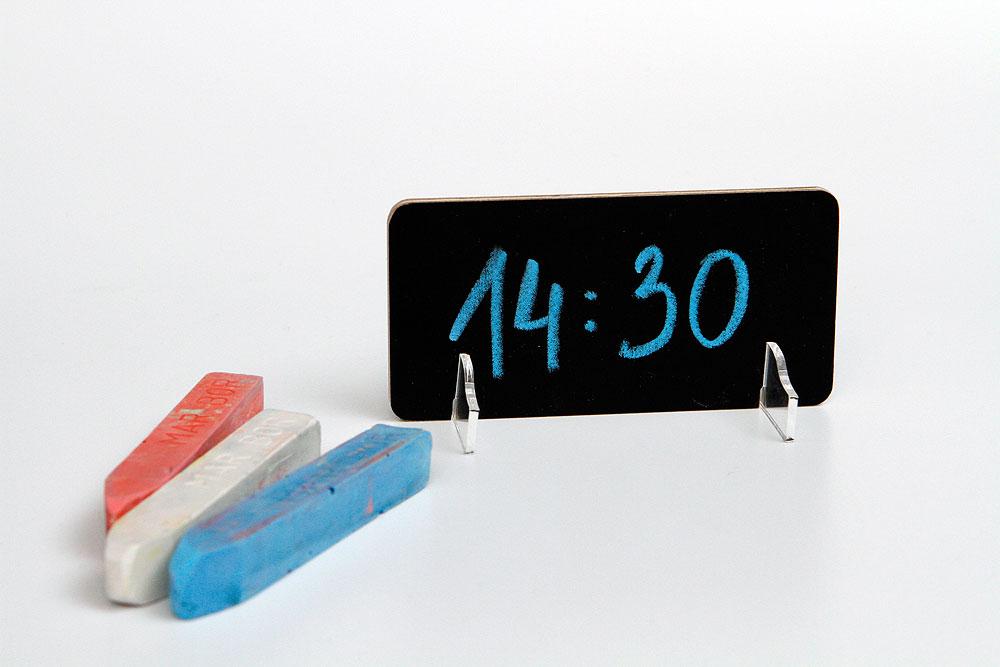 Tabliczki na stoliki do samodzielnego wypisywania treści - farba tablicowa