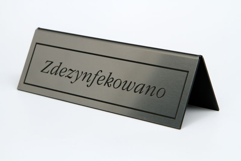 Stojak na stół - stolik zdezynfekowany - srebrno czarny