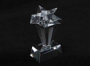 Szklana statuetka gwiazda 1