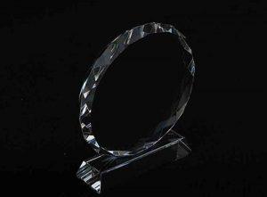 Szklana statuetka kryształowe koło