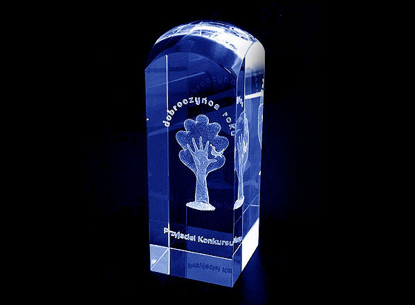 Szklana statuetka konkurs darczyńca roku