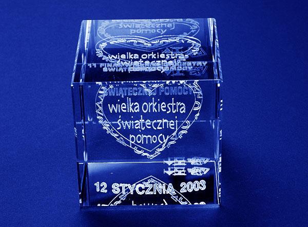Szklana statuetka okolicznościowa wosp 12 finał