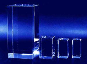 Szklane statuetki prostopadłościany rozmiarówka
