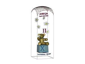Wizualizacja szklane statuetki pamiątkowej aukcji na rzecz dzieci