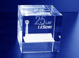Szklana statuetka 25 lat rocznica firmy