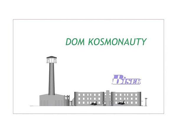 Wizualizacja szklanej statuetki Dom Kosmonauty