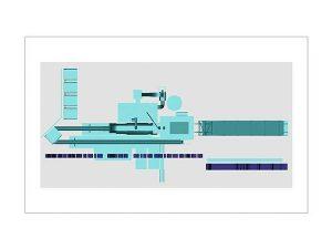 Wizualizacja 3d szklanej statuetki - Wytwórni Mas Bitumicznych - rzut z góry