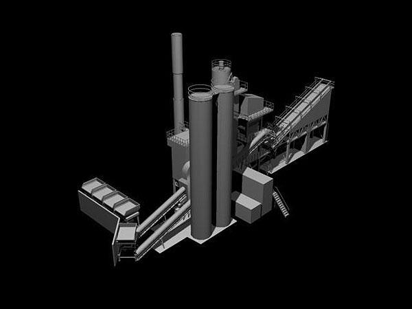 Wizualizacja grawerowania 3d w szklanej statuetce - perspektywa z lewej stromy