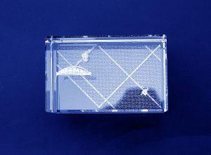 Szklana statuetka nagroda w tenisowych zawodach sportowych - widok z góry