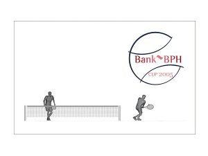 Wizualizacja grawerowania 3d w szklanej statuetce nagroda w turnieju tenisowym - prostopadłościan widok z przodu