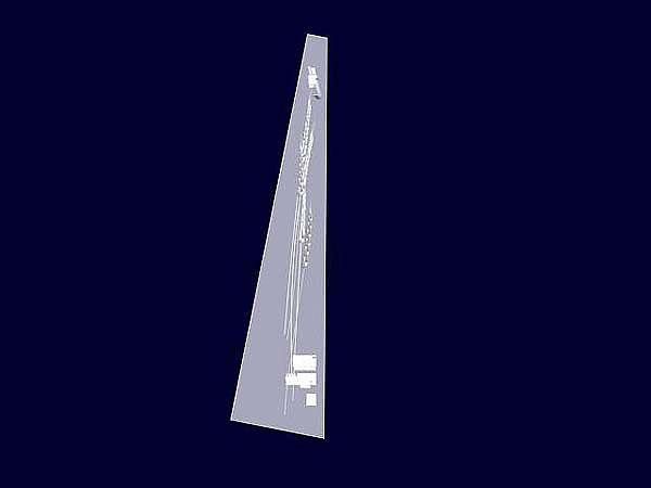 Wizualizacja szklanej statuetki pamiątkowej z okazji rozpoczęcia współpracy - widok z boku