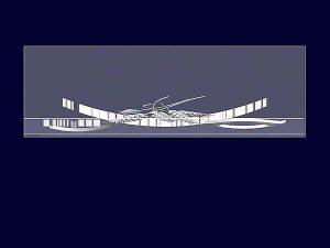 Wizualizacja szklanej statuetki pamiątkowej z okazji rozpoczęcia współpracy - widok z góry