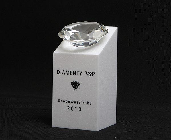 Statuetka z diamentem nagroda osobowość roku