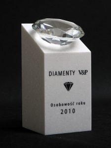 Statuetka nagroda diamentowa osobowość roku