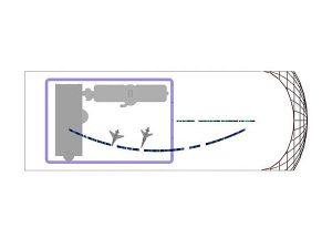 Wizualizacja grawerowanie szklanej statuetki na 25-lecie - widok z góry