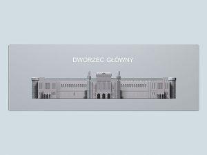 Wizualizacja 3d Dworca Głównego we Wrocławiu - widok z przodu