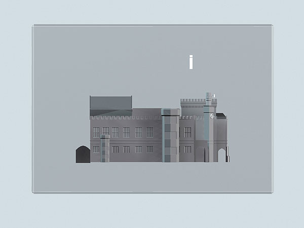Wizualizacja 3d Dworca Głównego we Wrocławiu - widok z boku
