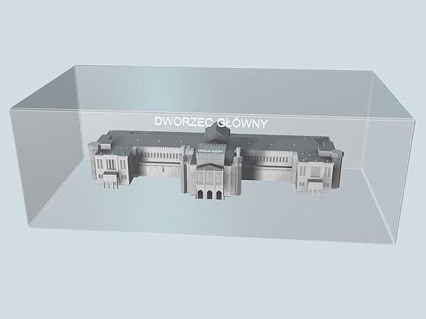 Wizualizacja 3d Dworca Głównego we Wrocławiu - perspektywa 2