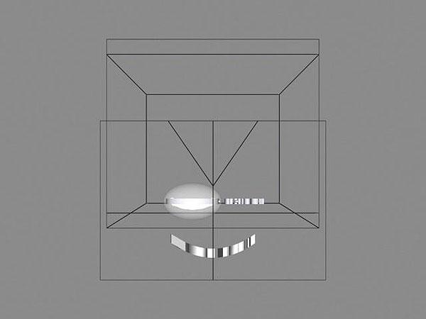 Wizualizacja grawerowania szklanej statuetki na 10-lecie firmy - widok z góry