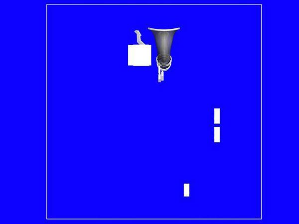 Wizualizacja projekt grawerowania 3d w szklanej statuetce - pamiątce z okazji wmurowania kamienia węgielnego - widok z perspektywa