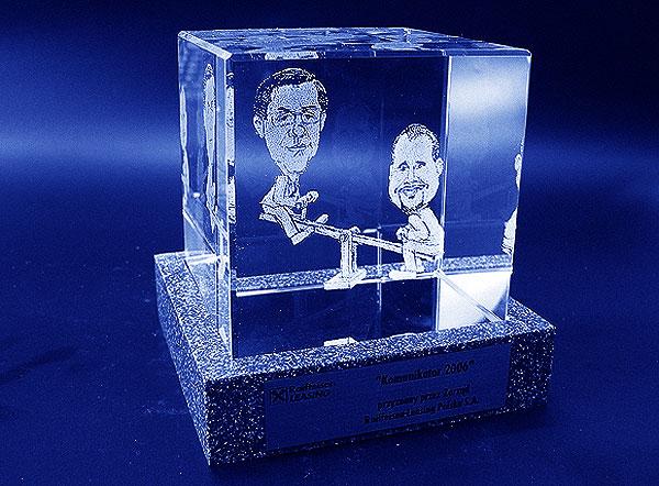 Karykatura w szklanej statuetce grawerowanie 3d - 07