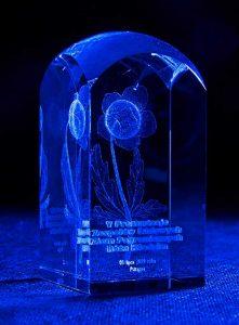 Nagroda w konkursie zespołów folklorystycznych Róża Kłodzka - szklana statuetka